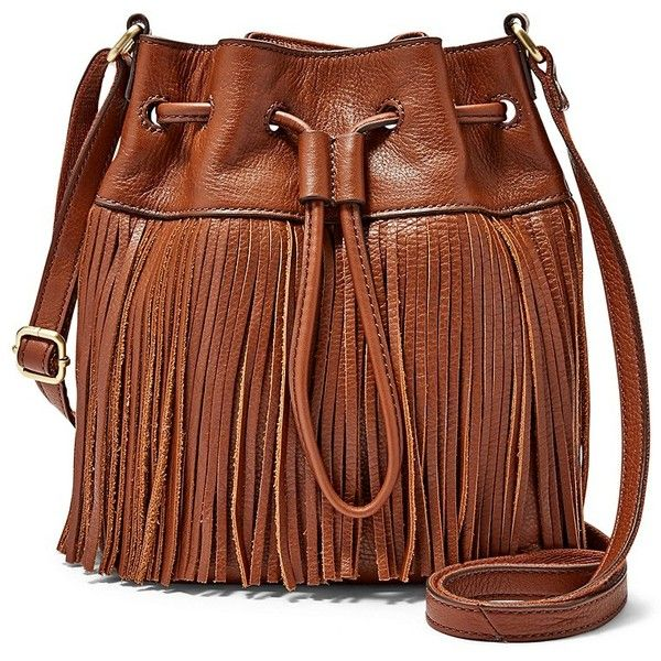 Fossil Jules Mini Fringe Drawstring Satchel Zb6765200 Color Brown 148 Liked On Polyvore Featuring Bags Handbags Purses