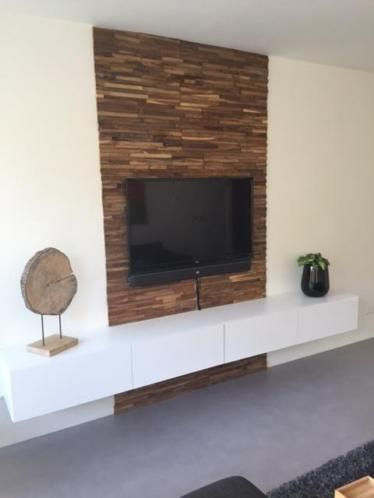 Houtstrips wand google zoeken interieur for Tv paneel wand