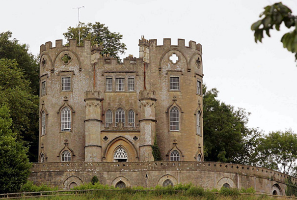 The 18th-century Midford Castle, near Bath in Somerset, England