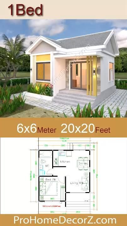 Photo of Small Cottage Designs 6×6 Meters 20×20 Feet