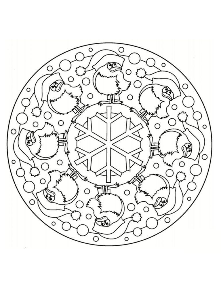 Coloriage Mandala De Noël 30 Dessins à Imprimer Scrapbook