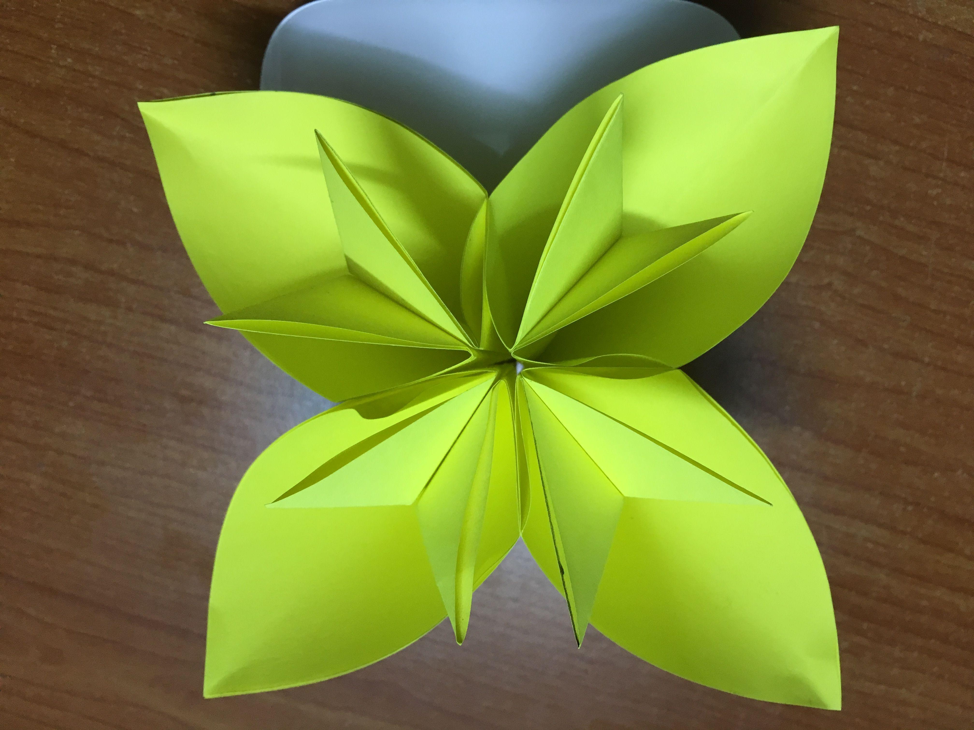 How To Make Origami Kusudama Flower Diy Easy Flower Paper