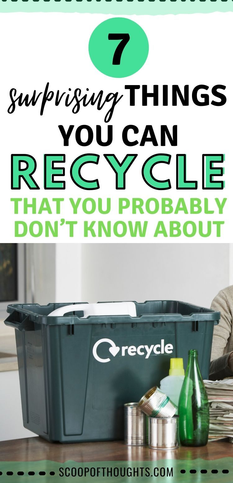 So you want to start recycling? But what exact things can you recycle?  Today, I'm sharing with you 7 surprising things you can recycle.   #recycle #sustainableliving #zerowaste