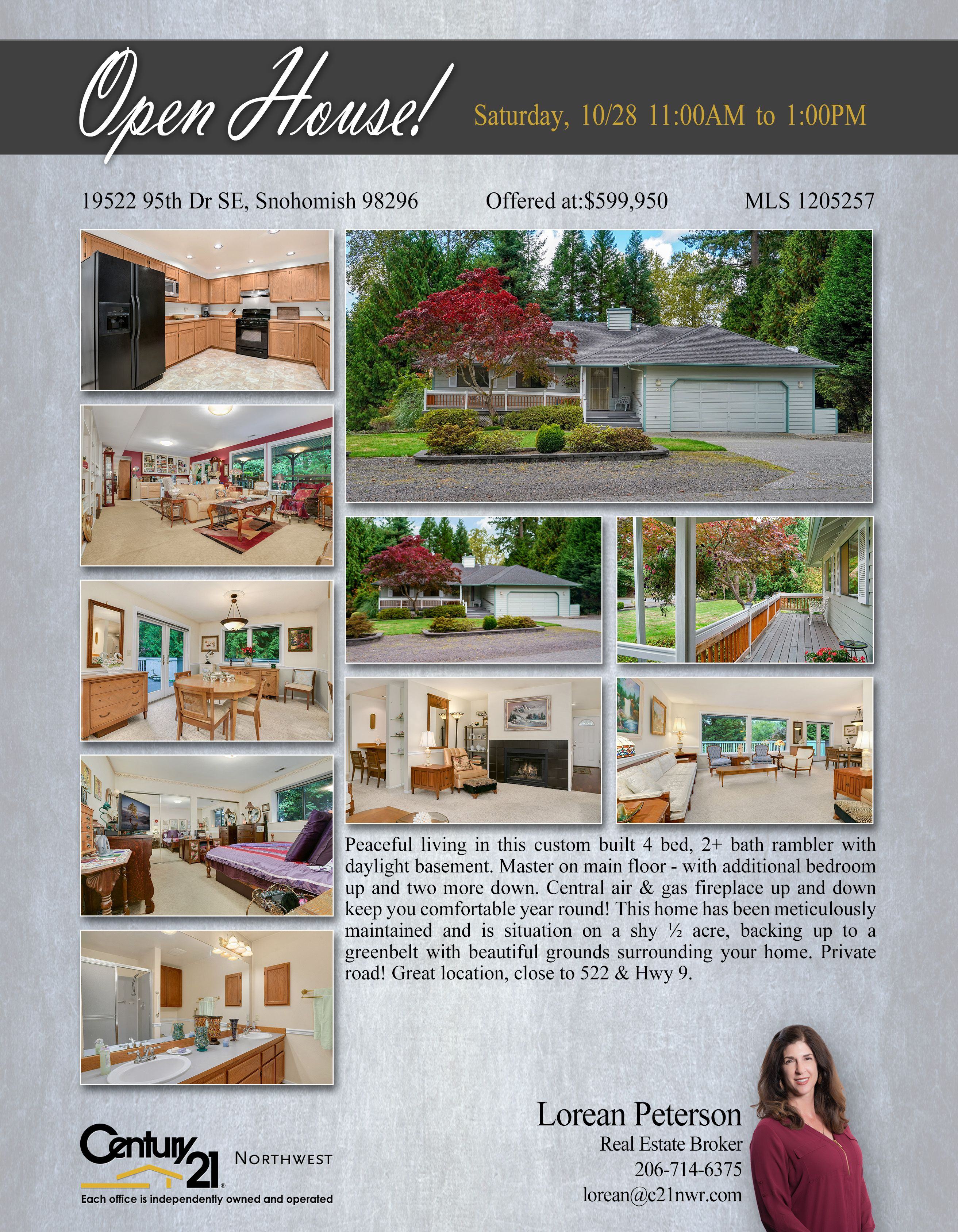 OPENHOUSE Peaceful living in this custom built 4 bed, 2