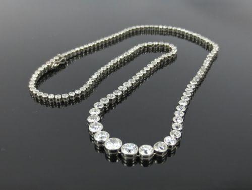 Antique-12-50ct-European-Old-Mine-Cut-Diamond-Platinum-Straight-Line-Necklace