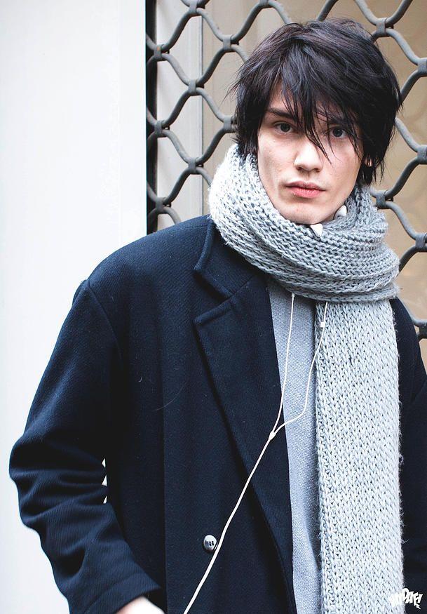 Male Model Street Style   menswear in 2019   Black hair ...