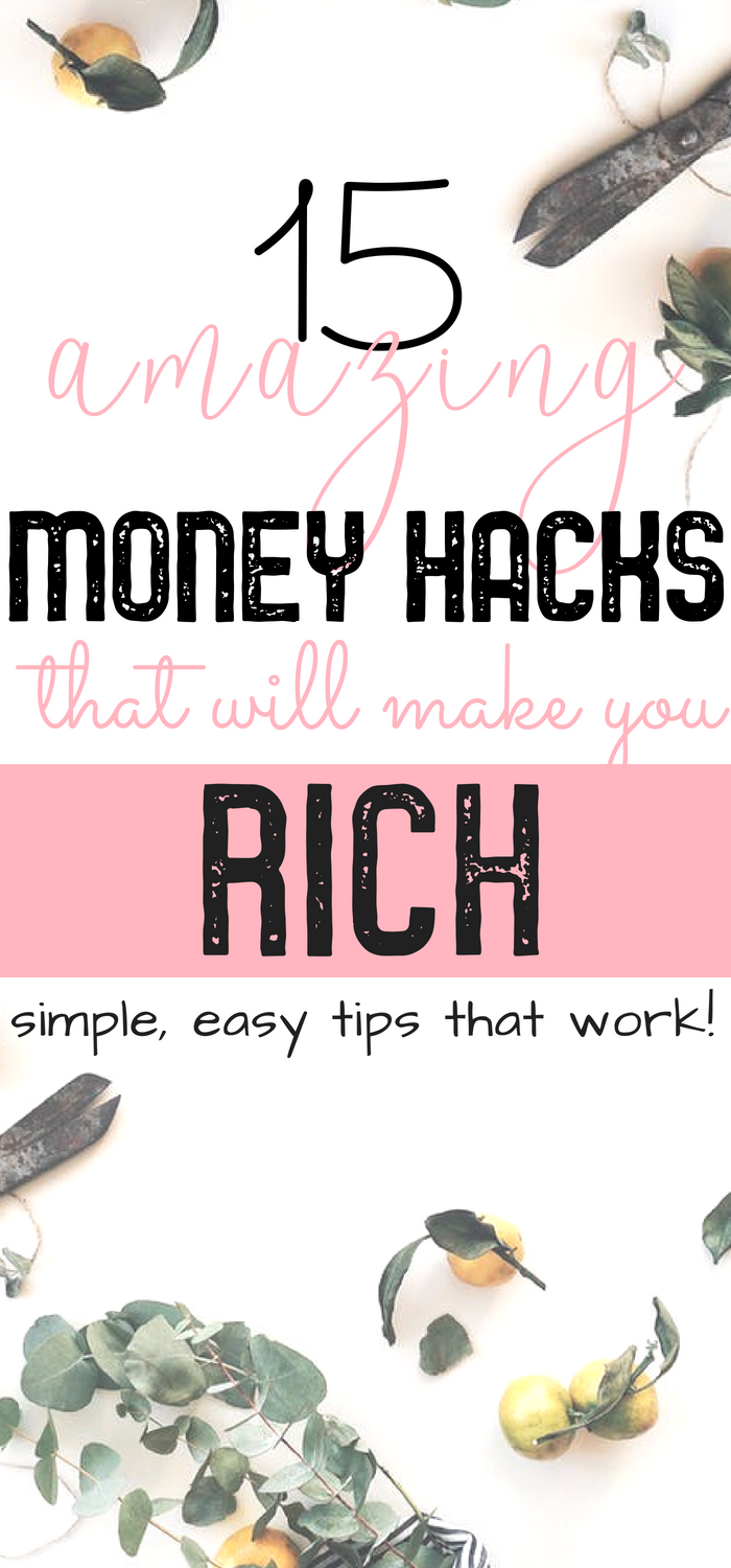 Make money online with these AWESOME #moneyhacks to help you save money in your budget every month. Become rich with these fab tips to make money from home and save more money every day. #makemoneyonline #savemoney #personalfinance #workfromhome