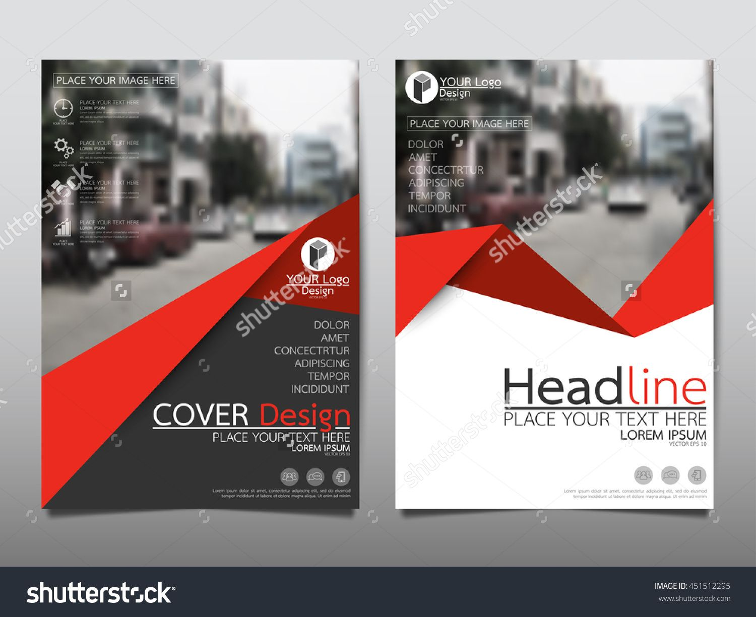 Red Triangle Business Annual Report Brochure Flyer Design Template