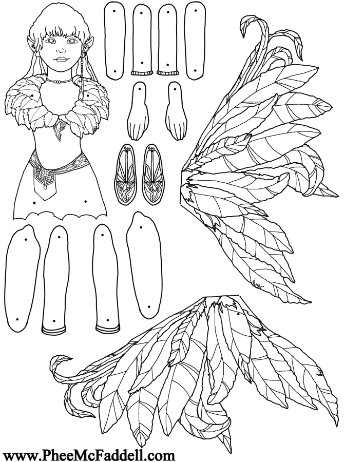 Fairy Puppet Wren To Color Www Pheemcfaddell Com