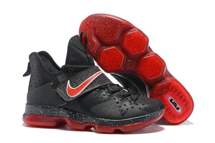 Bred Lebron XIV 14 Black Sport Red