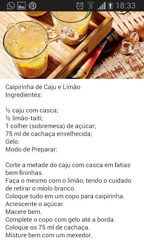 Caipirinha caju limão