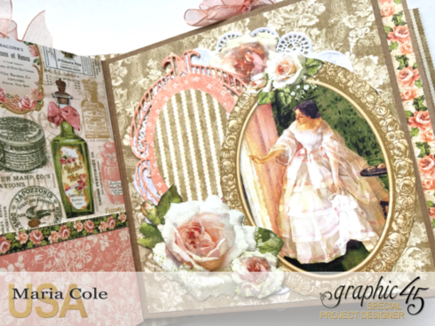 Graphic 45 Portrait Of A Lady Upcycled Vintage Style Photo Album