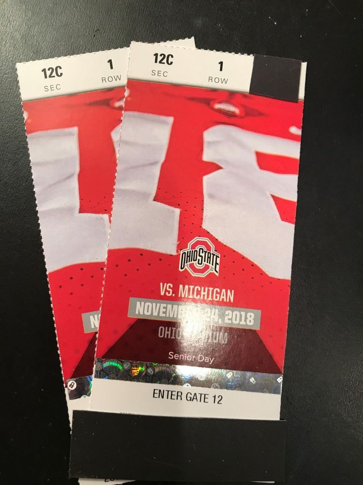 2 Of 4 Ohio State Vs Michigan Football Tickets Section 12c Row 1