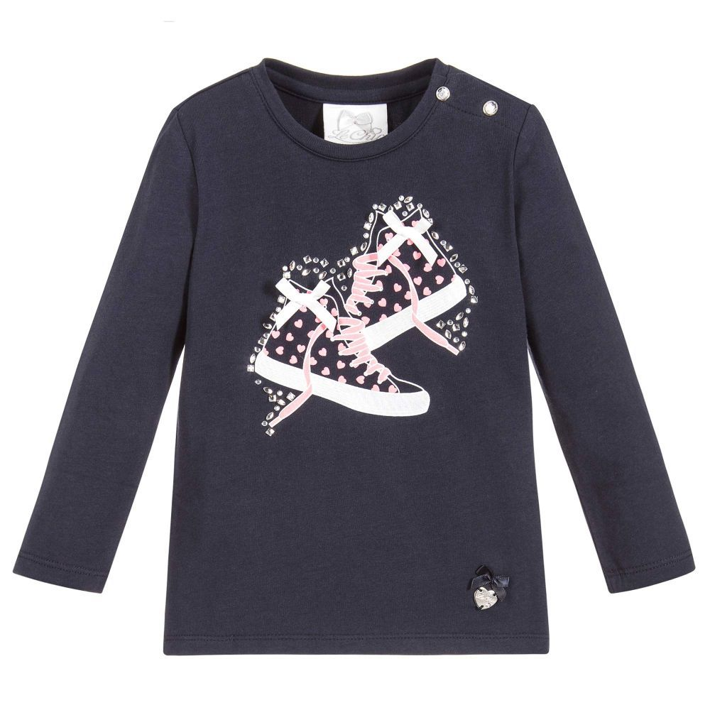 808b443316be Le Chic - Baby Girls Blue Cotton T-Shirt