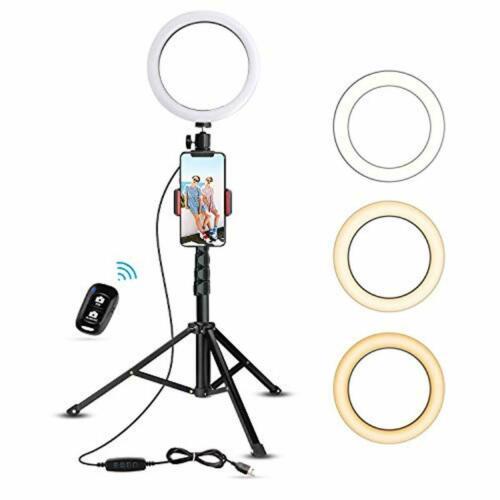 Tripod With 8 Selfie Right Light Cell Phone Holder Live Stream Led Ring Light 818229936884 Ebay Selfie Ring Light Cell Phone Holder Phone Tripod