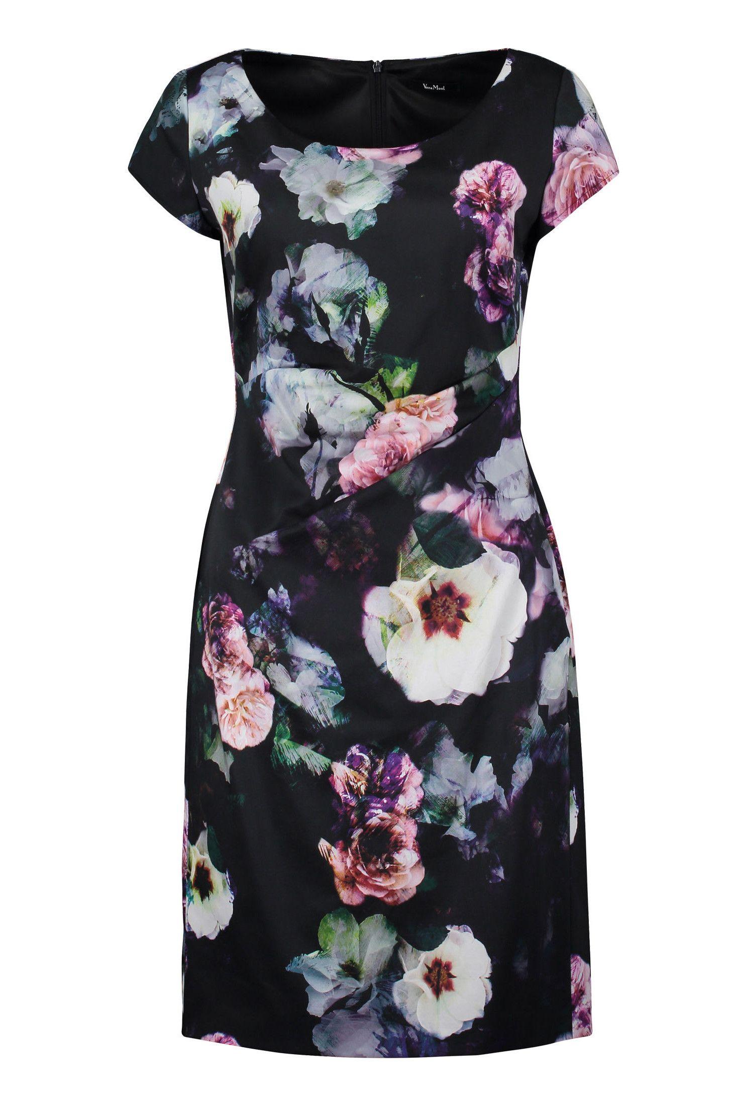 Kleid Baumwollsatin Blütenprint Vera Mont  Mode Bösckens