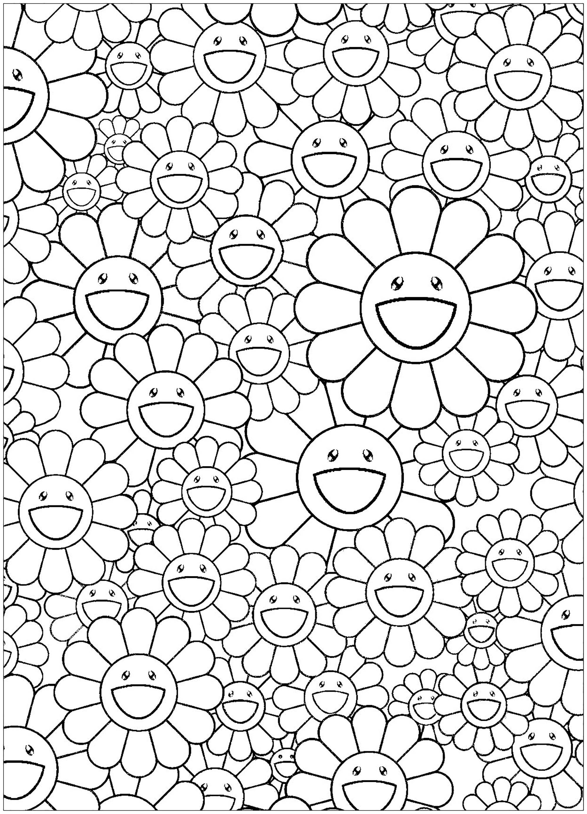 Coloring Page Inspired By A Work By Japanese Artist