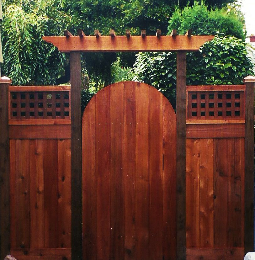 Arbor over gate ideas cedar fence gates ideas for the for Fence with arbor