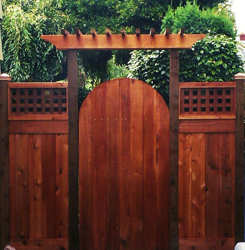 arbor over gate ideas | Cedar Fence Gates | Ideas for the ...