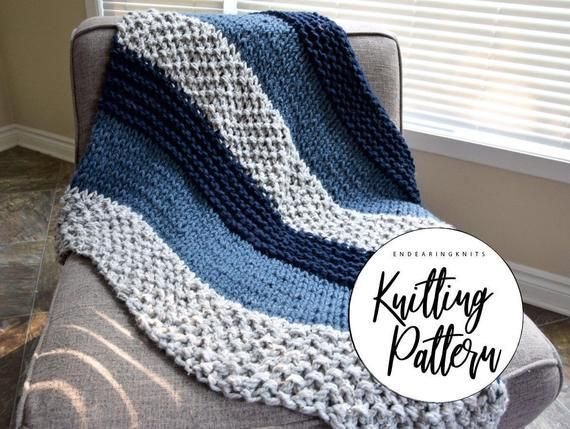 Chunky Blanket Pattern - Knitting Throw Pattern - Extreme Knitting - Knit Blue G...  Chunky Blanket Pattern – Knitting Throw Pattern – Extreme Knitting – Knit Blue Gray Blanket � #blanket #blue #chunky #EXTREME #knit #knitting #Pattern #throw
