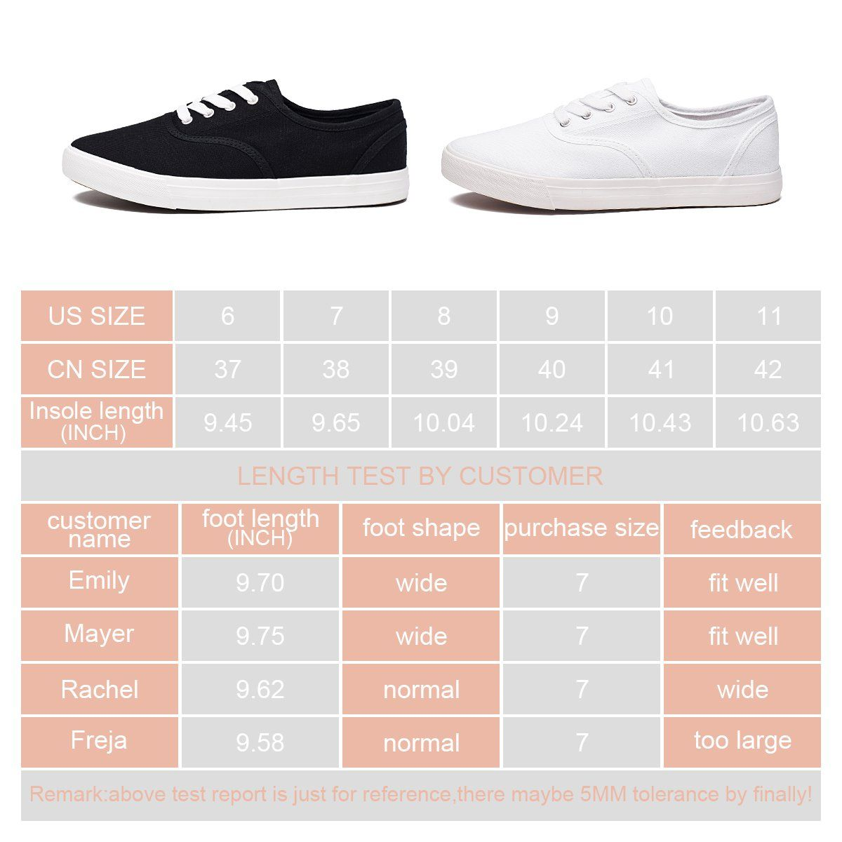 4366e401f6824 ZGR Womens Canvas Shoes Casual Lace Ups Slip On Fashion Walking ...