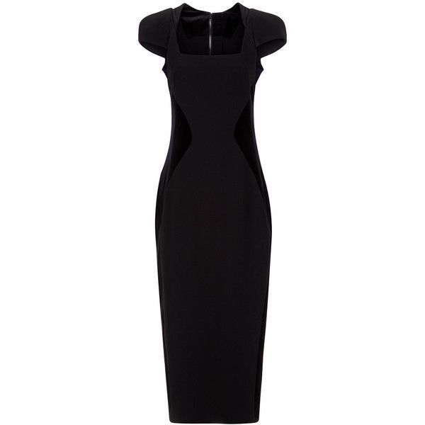Antonio Berardi Black Illusion Cap Sleeve Dress ($1,265) ❤ liked on Polyvore featuring dresses, gowns, short dresses, metallic evening gowns, cap sleeve evening dress, pencil dresses, holiday dresses and midi cocktail dress