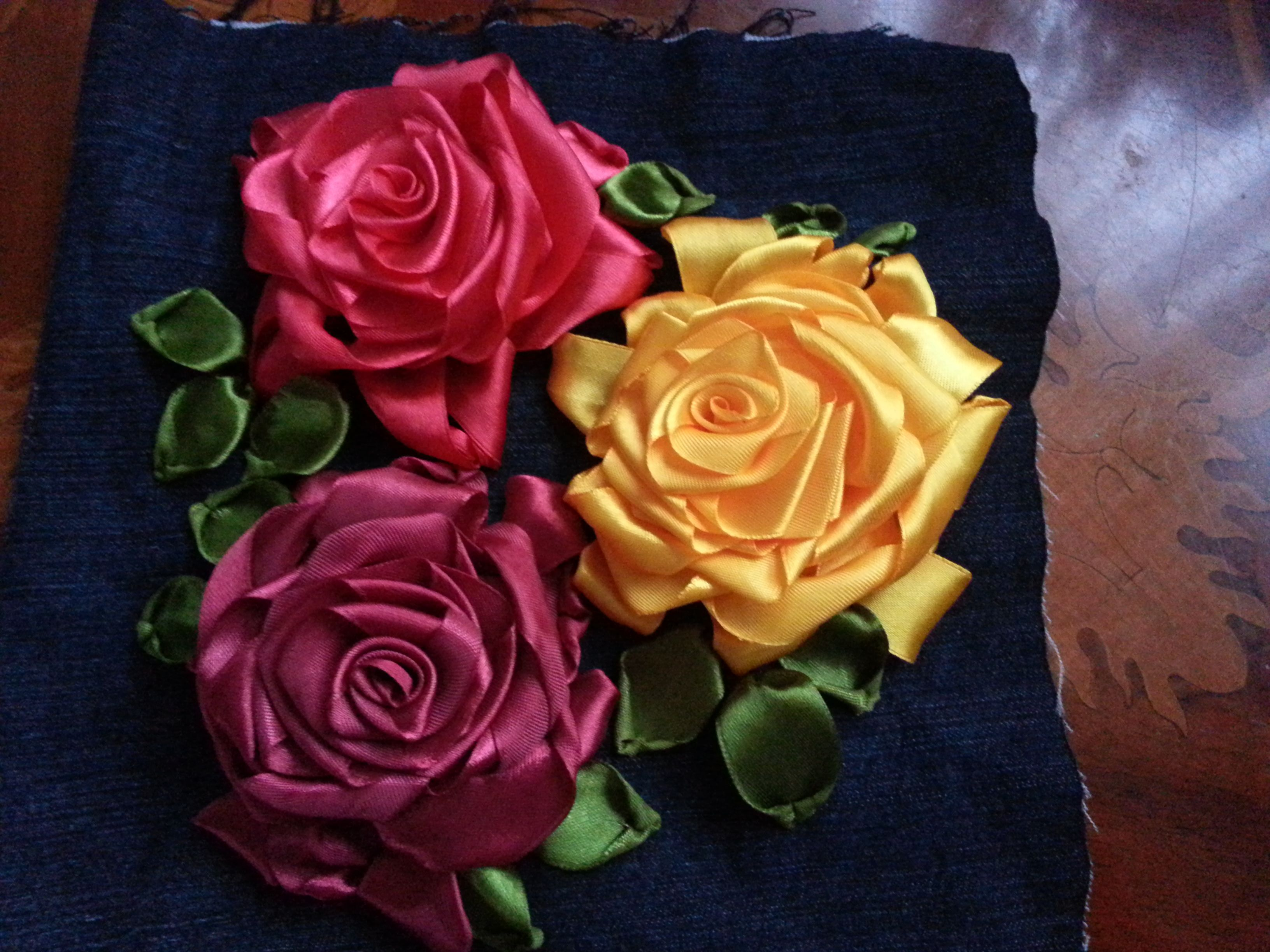 Satin ribbon roses ribbon embroidery pinterest satin ribbon handmade bag clutch cushions cosmetic bag made using silk satin ribbon embroidery ccuart Gallery