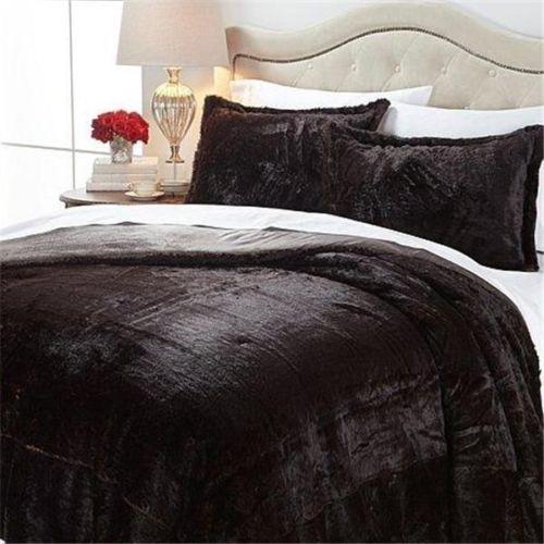 A By Adrienne Landau Faux Fur Comforter Set Mink Queen New Faux Fur Bedding Comforter Sets Fur Comforter