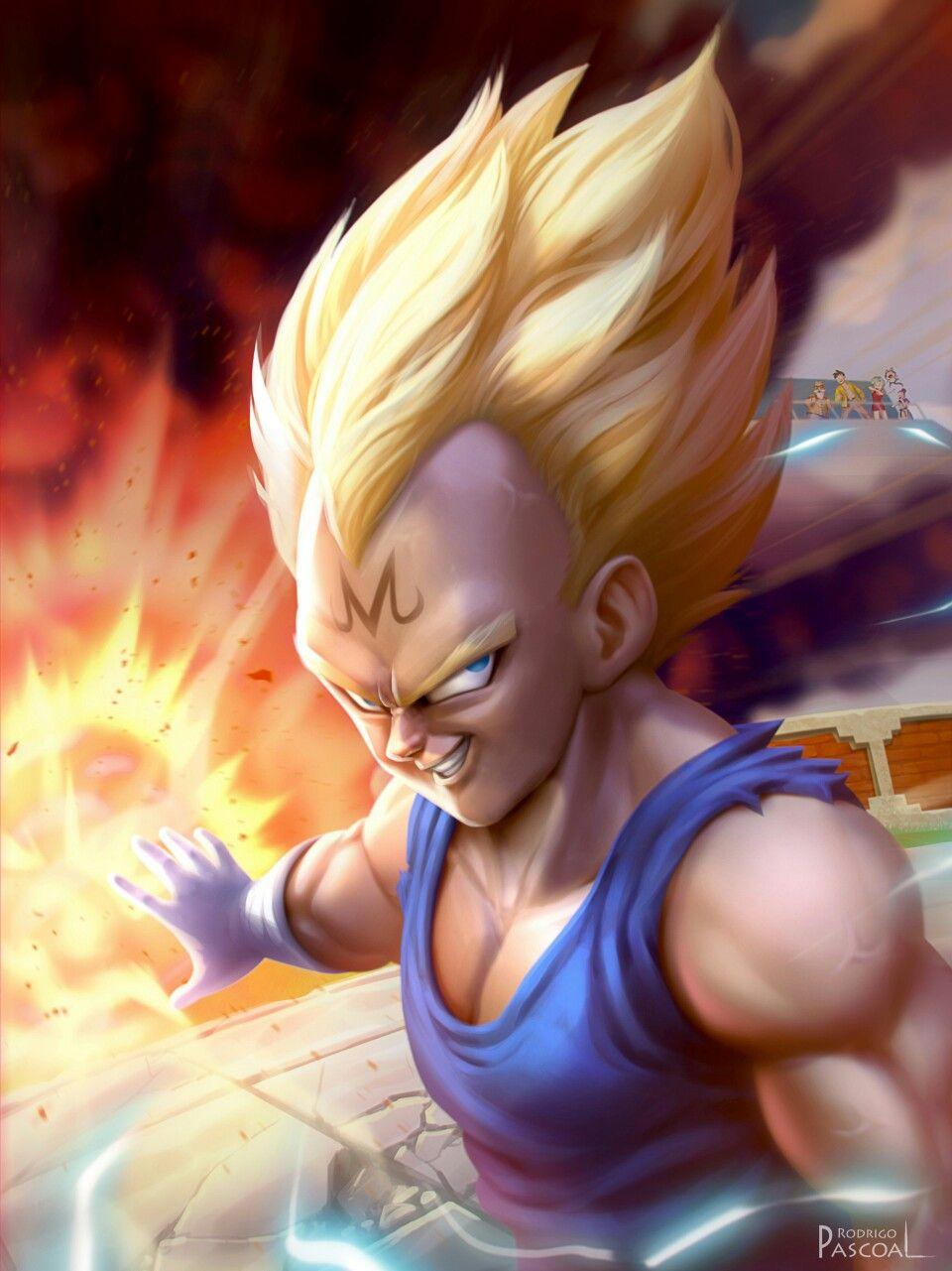 Majin Vegeta Dragon Ball Artwork Dragon Ball Super Dragon Ball Z
