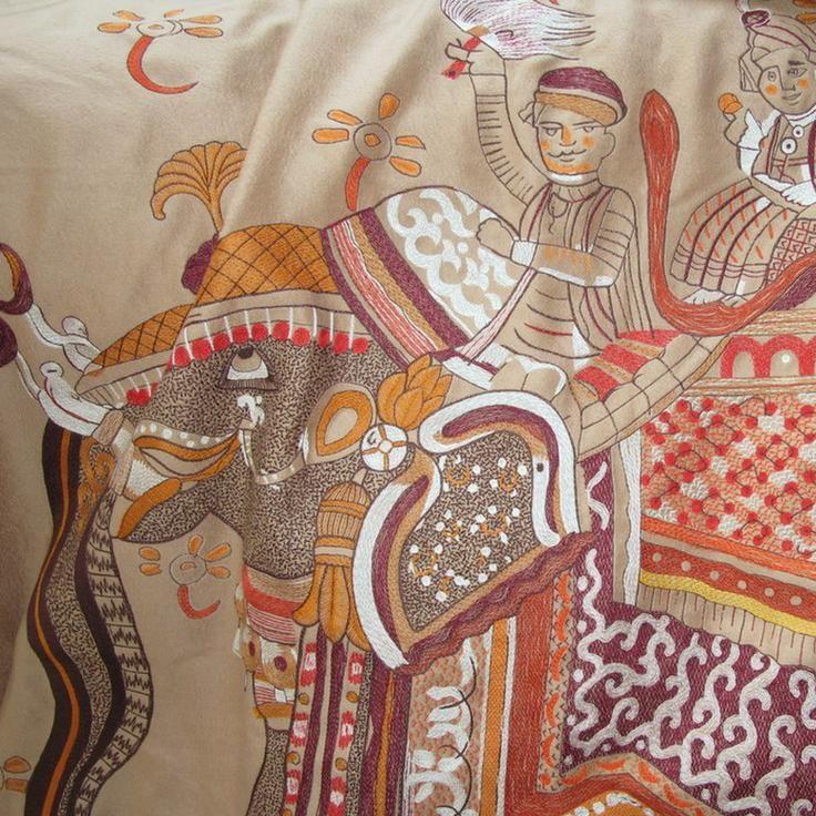 HERMES BELOVED INDIA blanket Cashmere