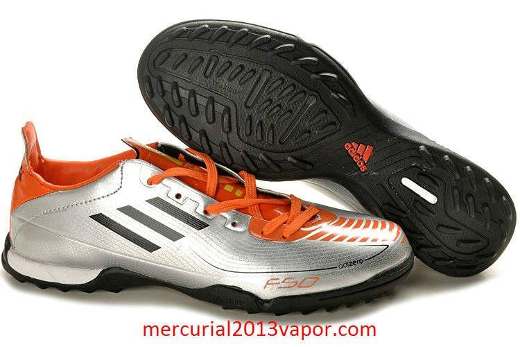 Adidas F50 AdiZero TRX TF Indoor Soccer Shoes Silver Black Orange ... d27dbdc9b97a
