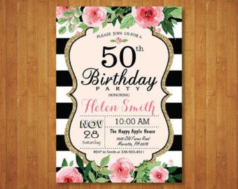 Pin En Birthday Shower Invitations
