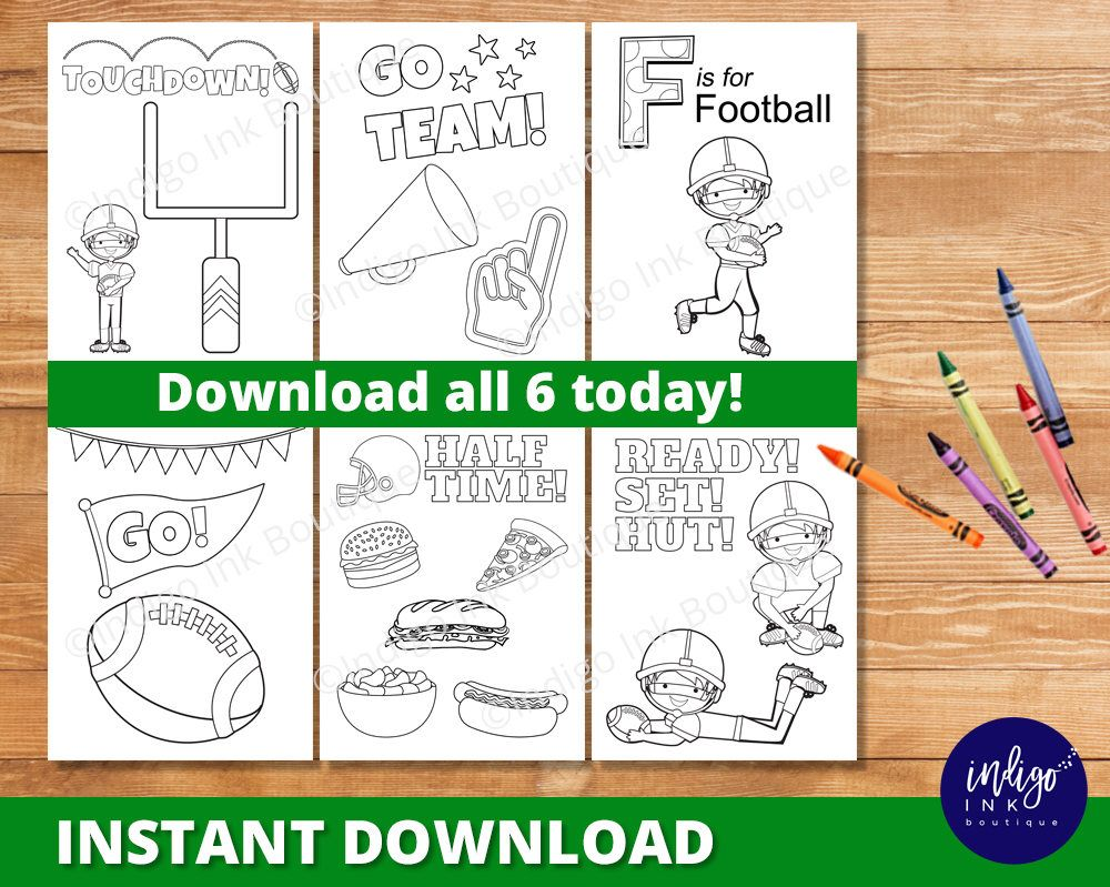 Football Coloring Pages for Kids | Superbowl Coloring Sheets ...