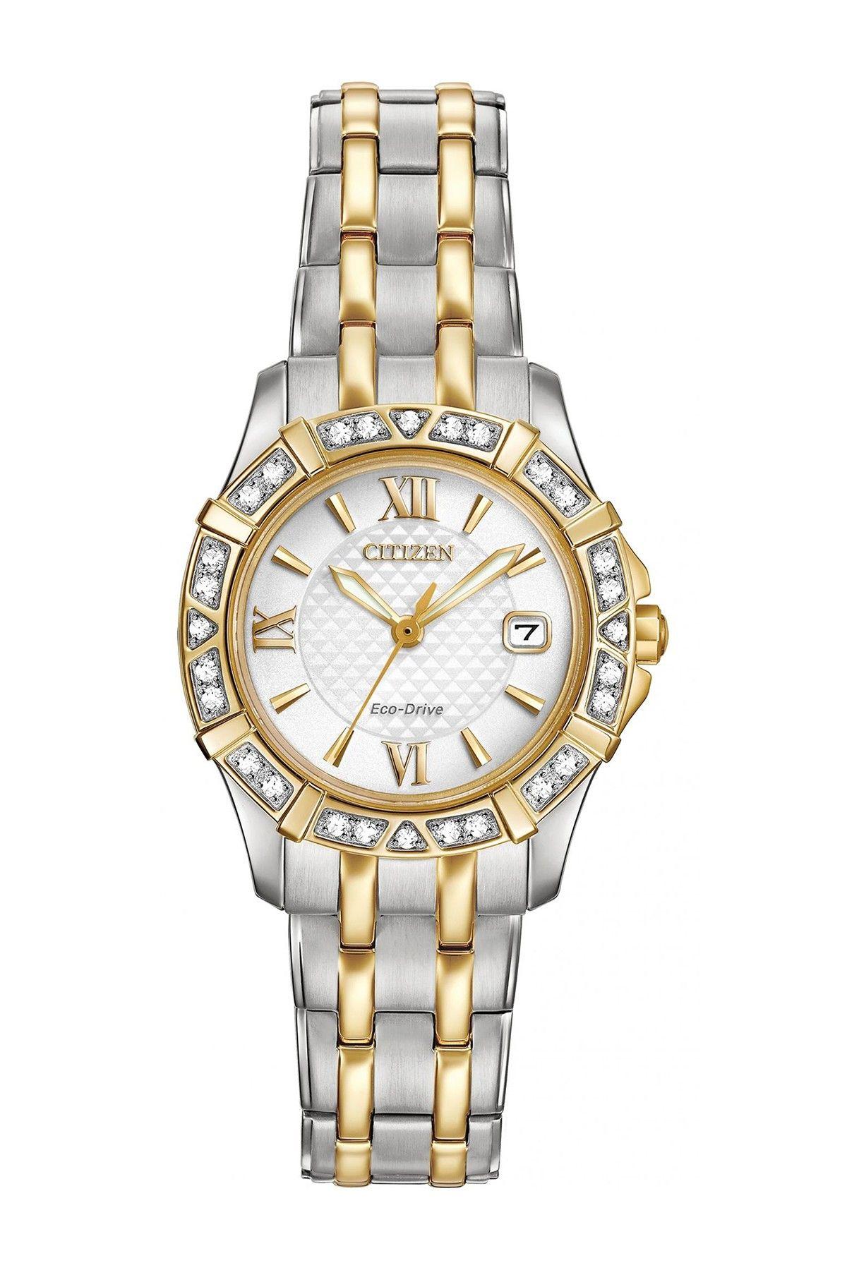Women s Eco-Drive Two-Tone Diamond Watch 08c48362b3