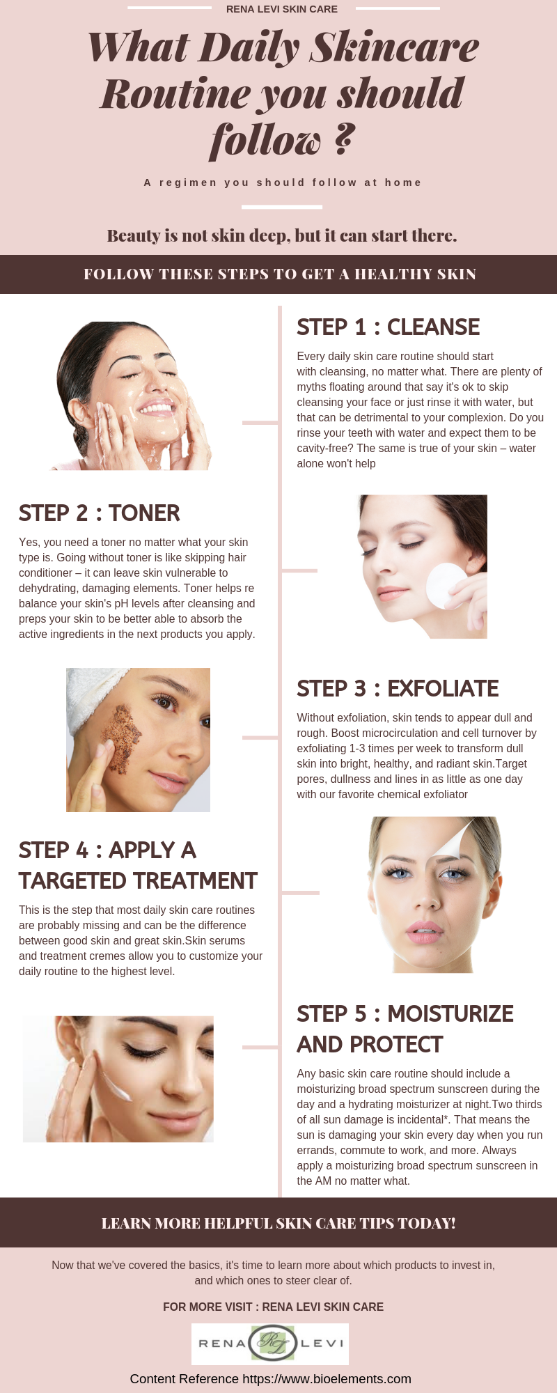 Worried What Routine You Should Follow For Your Skin Then Just Follow These Simple Steps Care Dai Daily Skin Care Routine Daily Skin Care Skin Care Routine