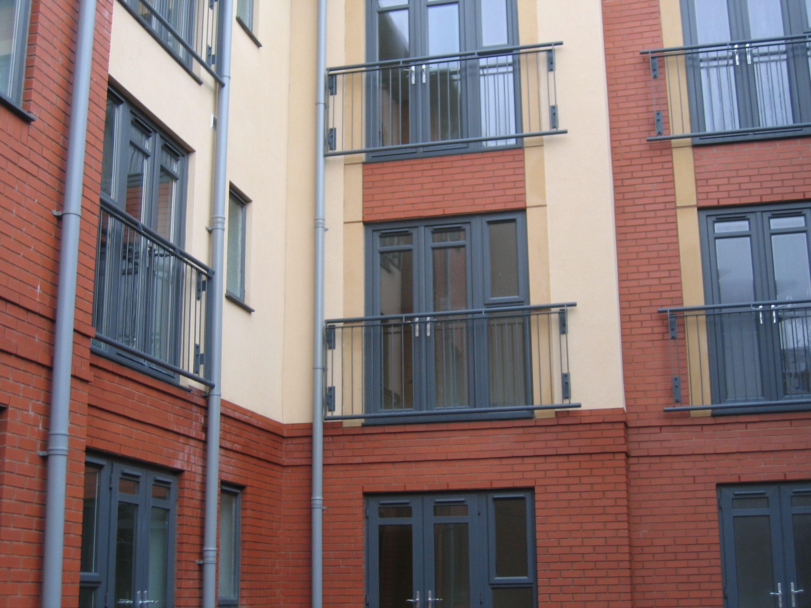 Metal Juliette Balcony Balustrade Powdercoated To Ral 7016