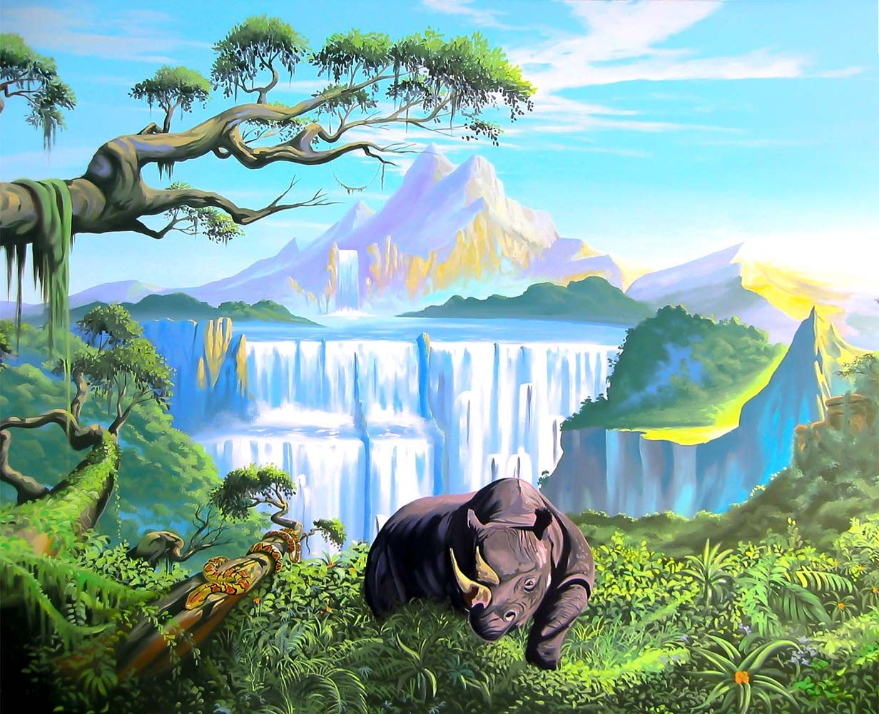 Jungle Wall Mural This First Image Shows The Main