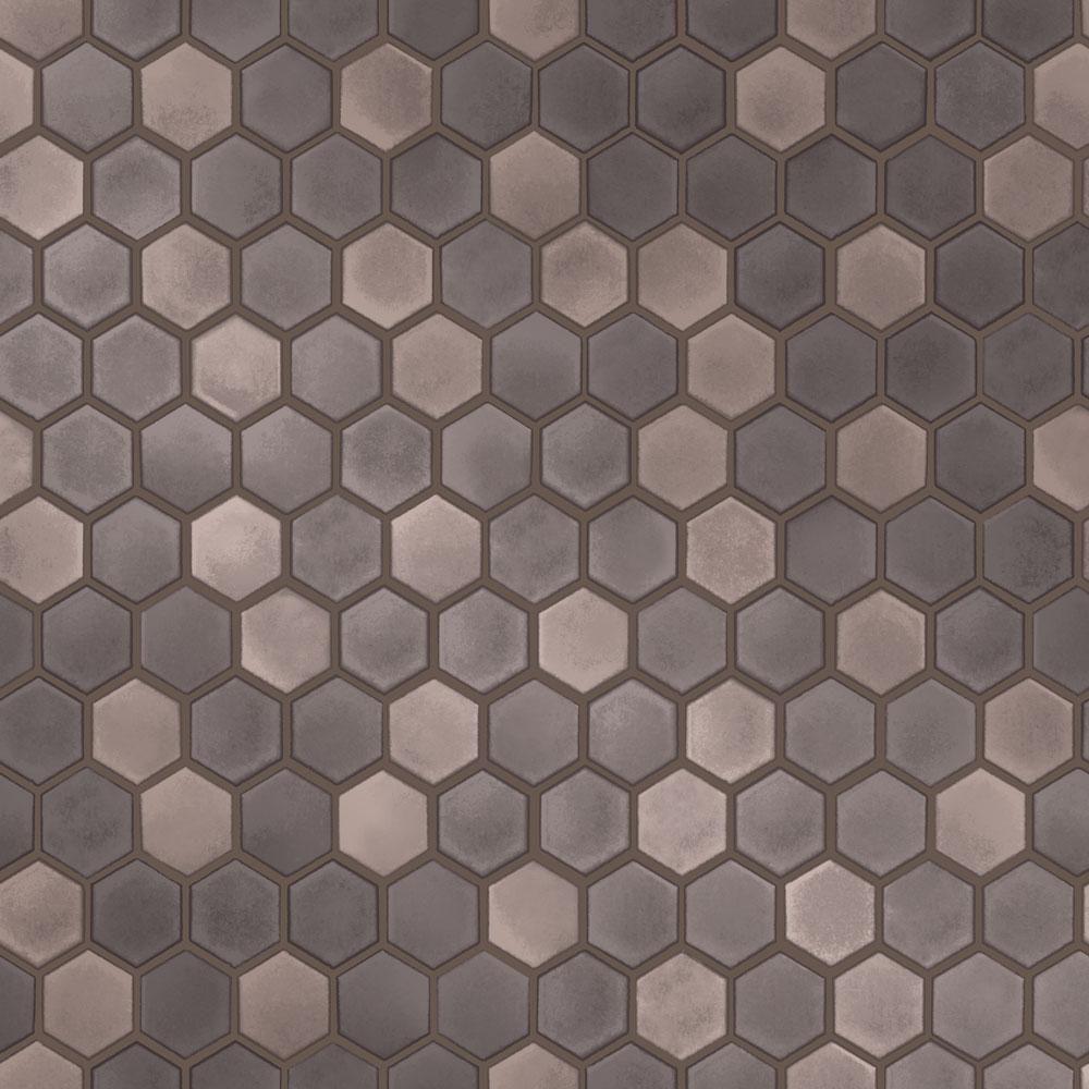 Tempaper Hexagon Tile Regal Noir SelfAdhesive, Removable