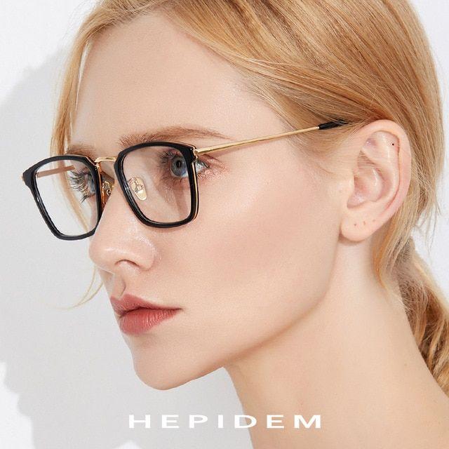 98f7a7a49b6 Acetate Optical Glasses Frame Men Square Prescription Eyeglasses 2019 Women  Metal Myopia Spectacles Stainless Steel Eyewear