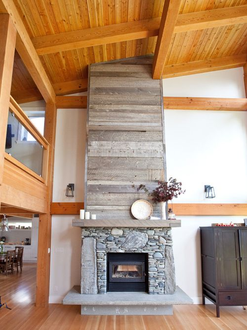 Love The Fire Place Different Stone But Shiplap Above Images Reclaimed Wood