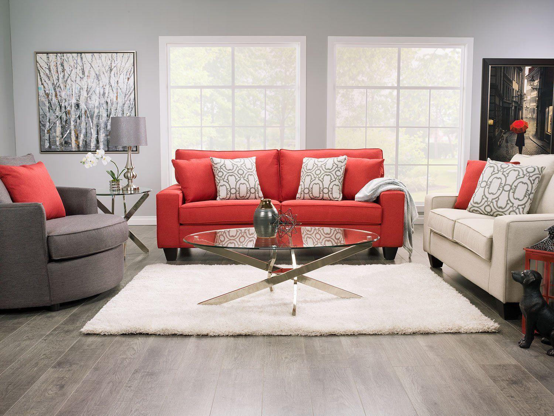 Designed2b Dax Linen Look Fabric Sofa Sophisticate Coral The Brick Deco Interieure Meubles De Chambre Moderne Mobilier De Salon