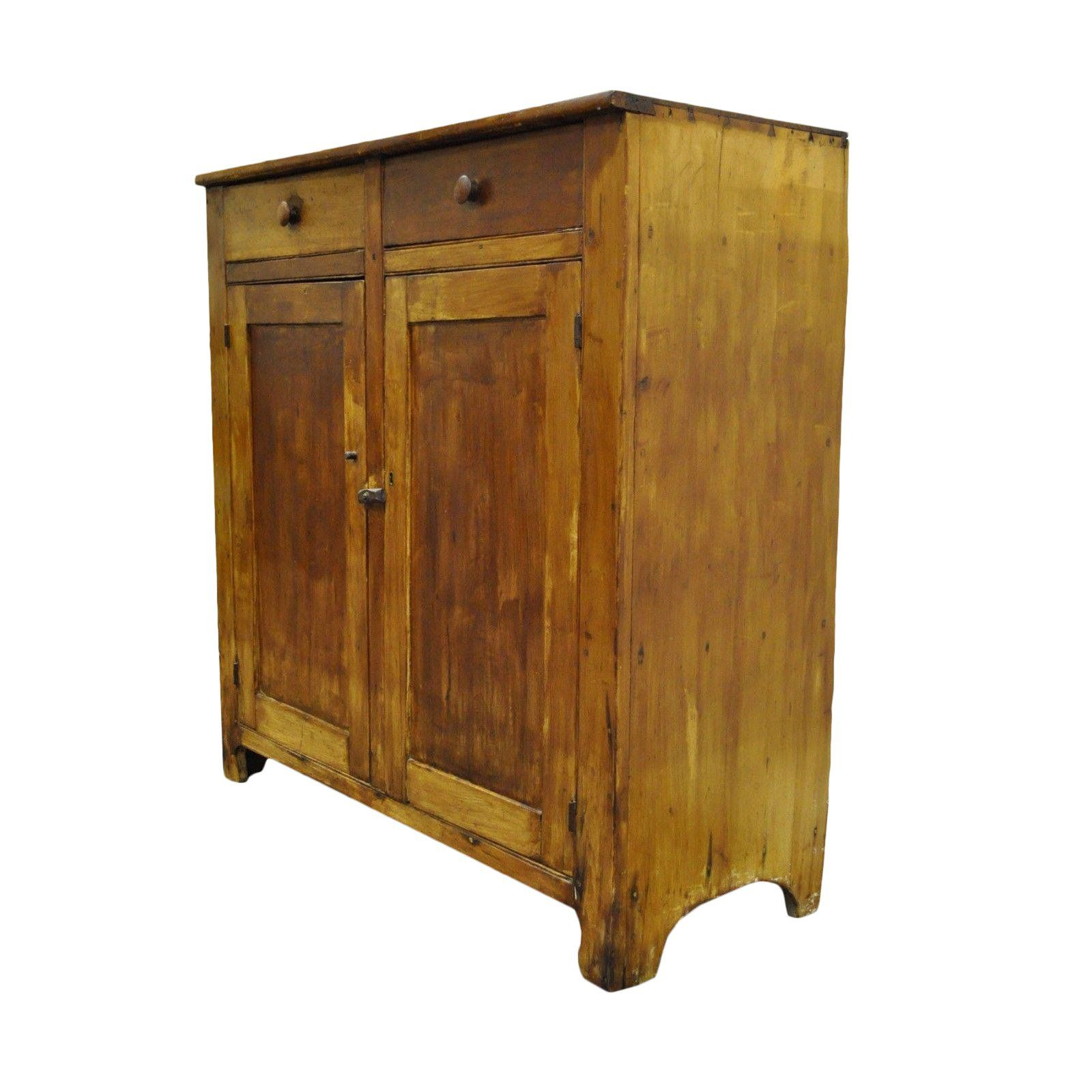 Primitive Solid Pine Dovetail Joined Cupboard Cabinet Jelly Cupboard Modern Cupboard Cupboard