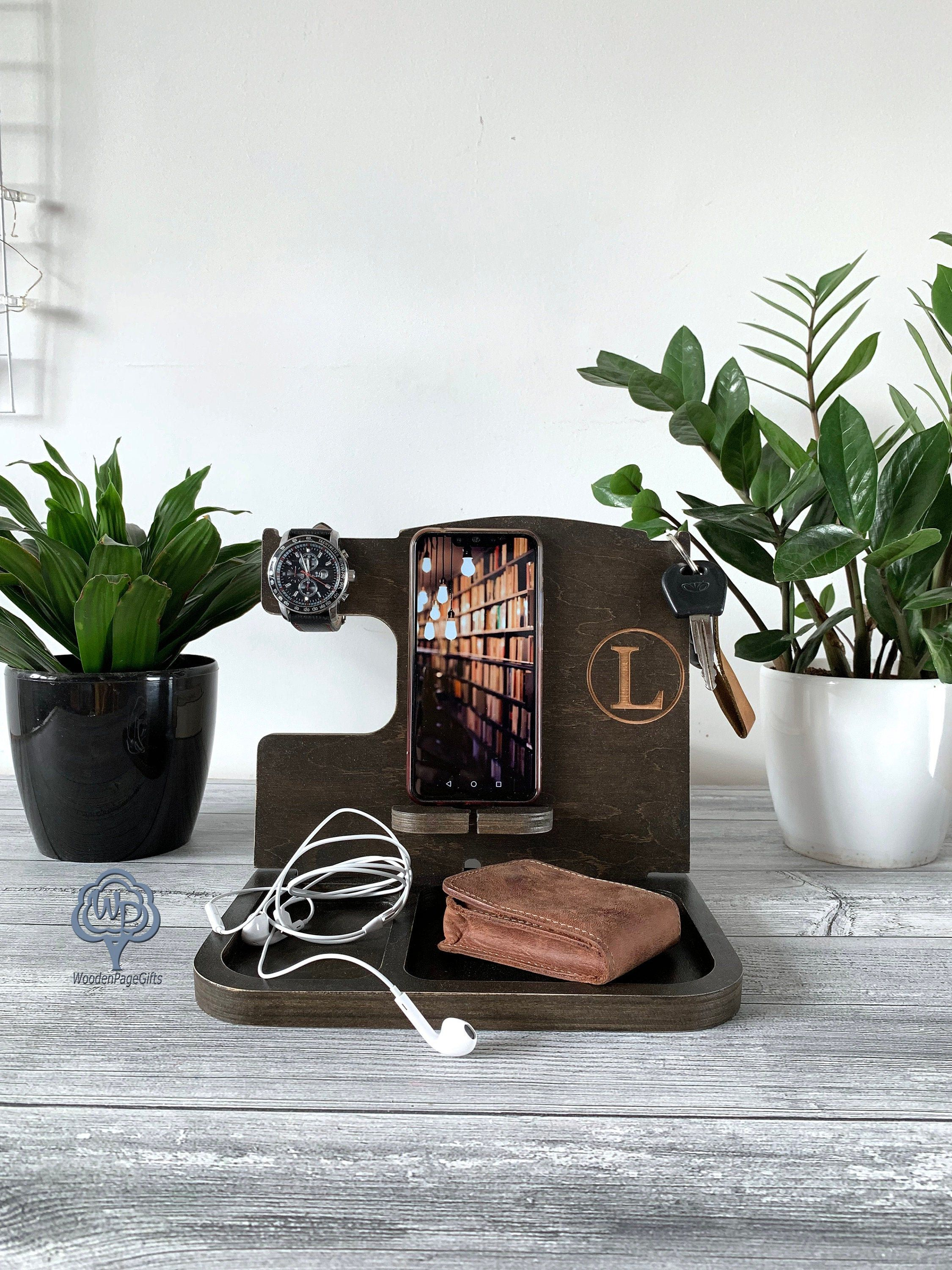 Docking station gift for husband gift for men personalized