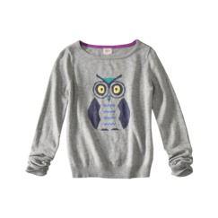 so sweet!!  Mossimo Supply Co. Juniors Long Sleeve Owl Sweater - Gray