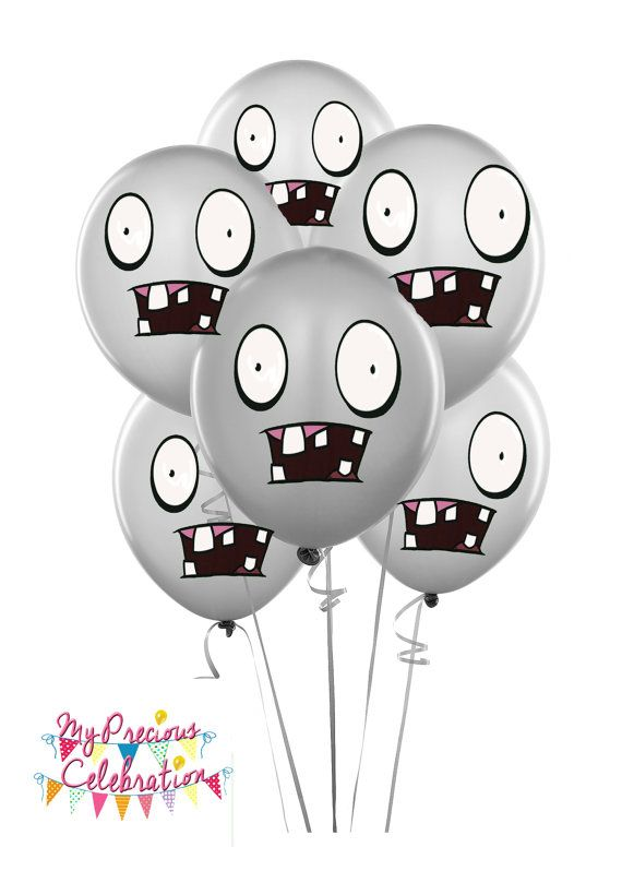 Zombies balloons plants vs zombies inspired birthday for Decoracion con globos plantas contra zombies