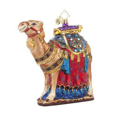 Radko FROM THE FAR EAST Nativity Camel Ornament