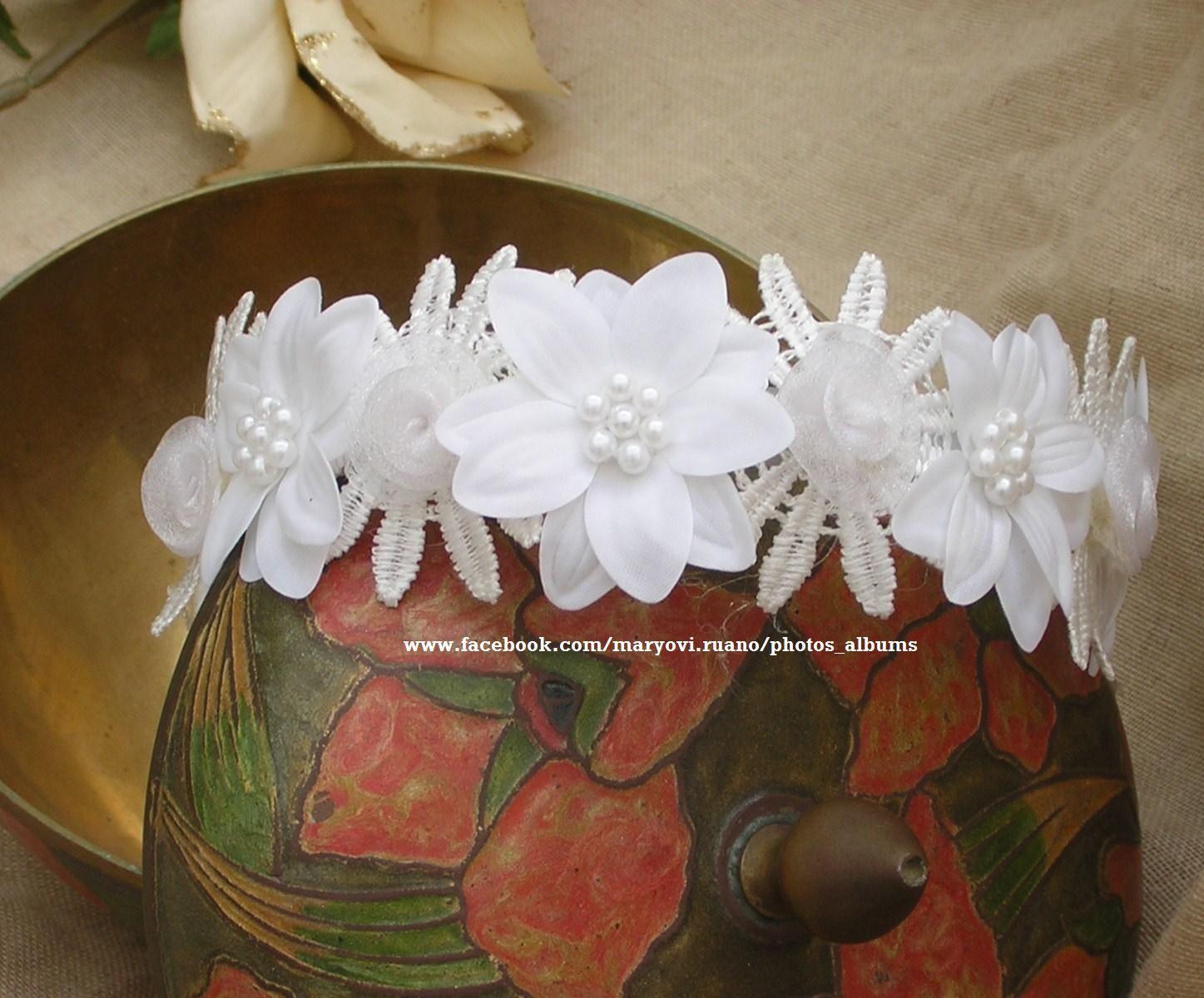 www.facebook.com/maryovi.ruano/photos_albums Confección de complementos para el pelo. Children hair accesories.