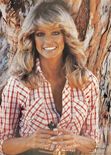 Farrah Fawcett - Typical Californian beauty. Known for her big blonde locks and rose to international fame when she posed for her iconic red swimsuit poster.