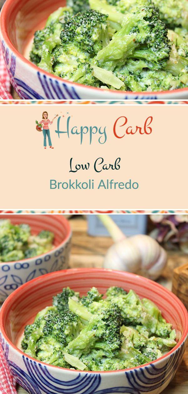Brokkoli Alfredo - Happy Carb Rezepte