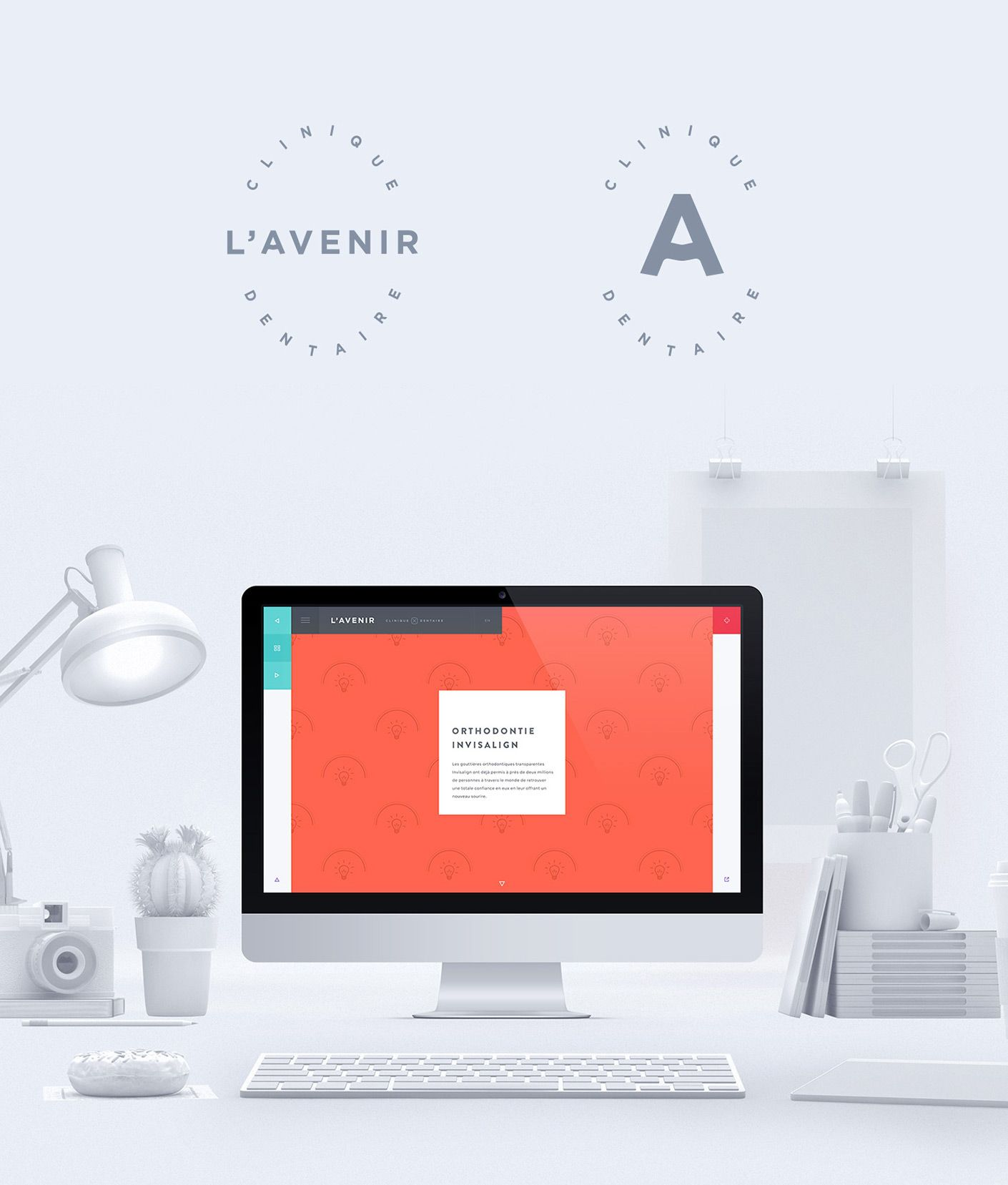 L Avenir Dental Clinic On Behance Dental Clinic Dental Web Development Design